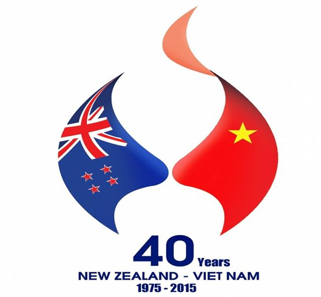 Official logo of 40th Anniversary Vietnam - New Zealand relations