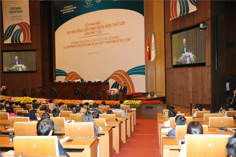Opening ceremony of 132nd IPU Assembly