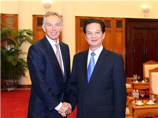 UK Former Prime Minister Tony Blair visits Vietnam