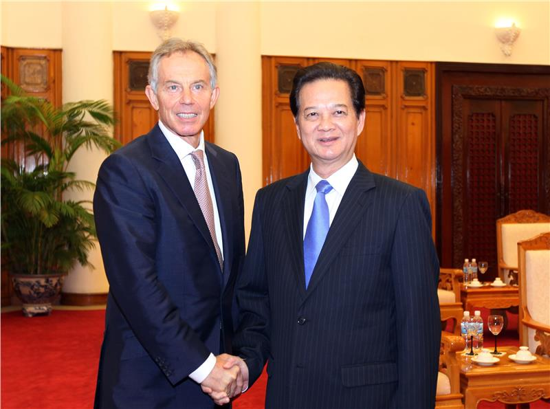 UK Former Prime Minister Tony Blair visits Vietnam