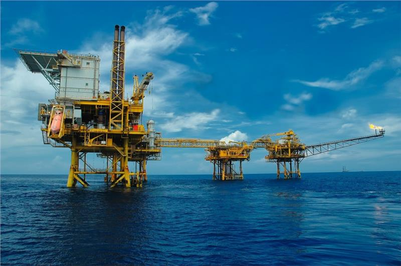 Offshore oil rig in Vietnam