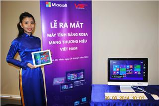 The first Vietnamese Window 8.1 brand tablet releases