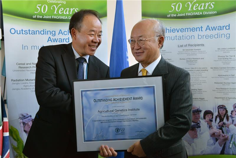 Vietnam mutation breeding gained IAEA Award