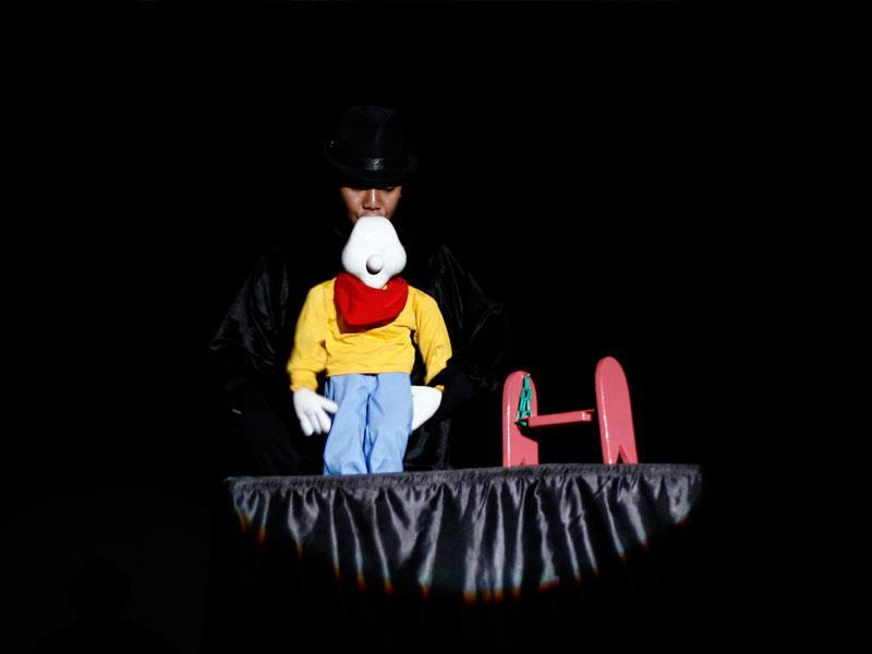 A puppet performance
