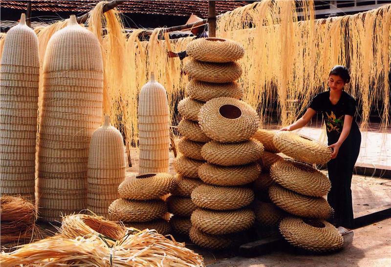A traditional craft village in Vietnam