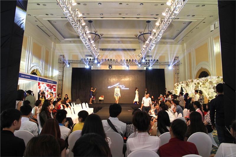 Models perform costumes of wedding