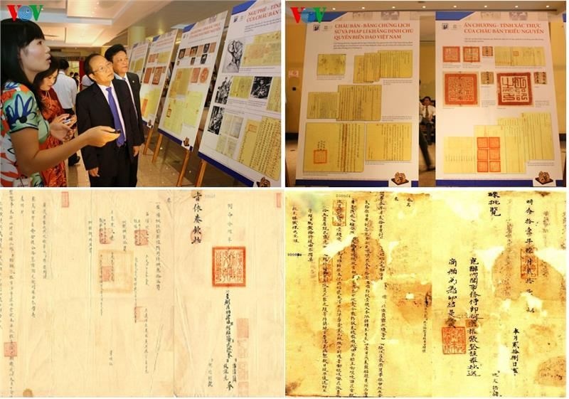 Nguyen Dynasty documents are being displayed