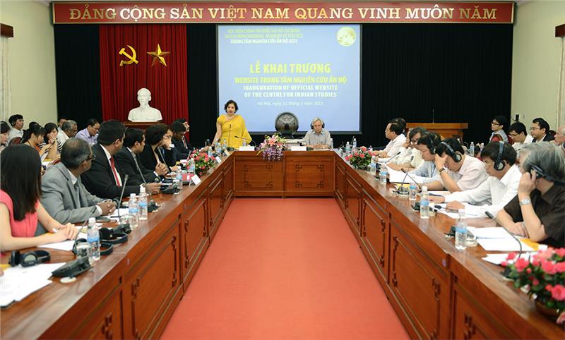 Preeti Saran speaks in front of representatives