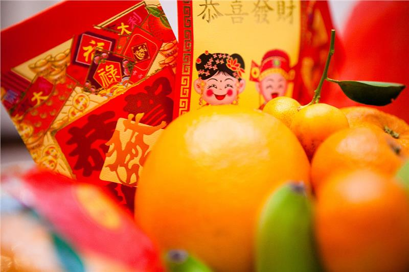 Red envelopes bring good health and good fortune fro New Year