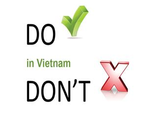Dos and donts in Vietnam