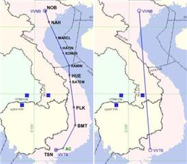 The new route from Hanoi to Ho Chi Minh City established