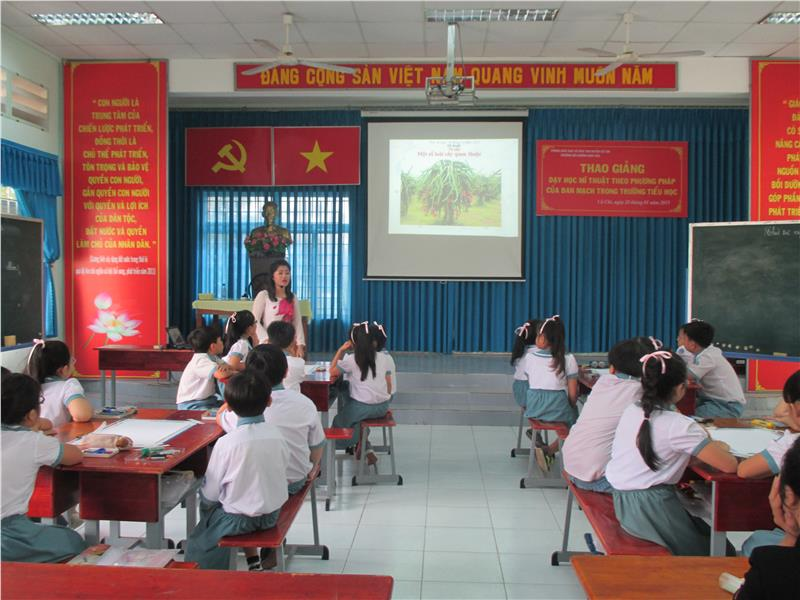 Teaching Fine Arts by Danish method at Vietnam primary school