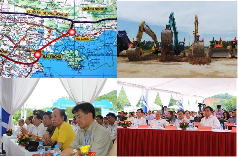 The groundbreaking ceremony of Halong Haiphong Highway