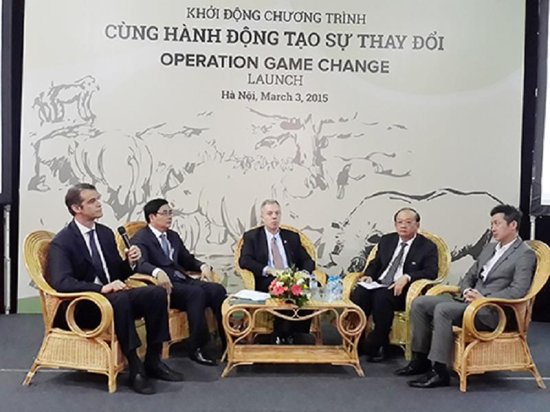 The launching ceremony of Operation Game Change