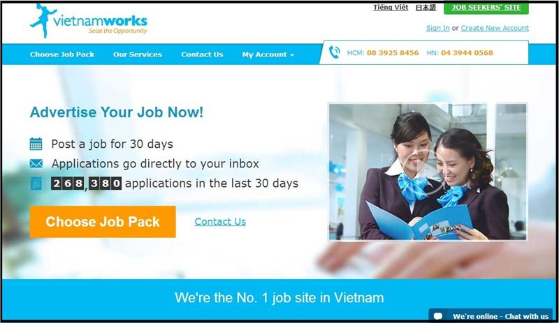 Vietnam Works website