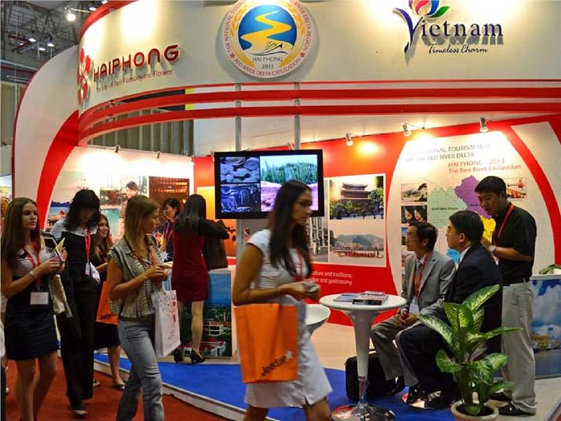 A corner in Vietnam tourism fair
