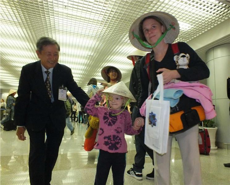 A German family travel Ho Chi Minh City