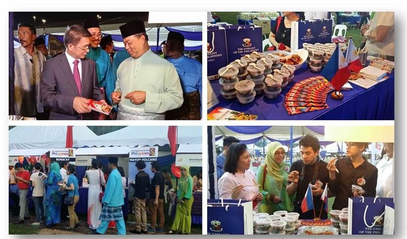 Food stalls in ASEAN Food and Culture festival