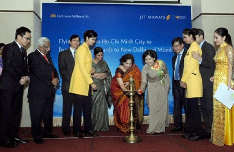 Opening ceremony of new route HCM City - New Delhi and Mumbai