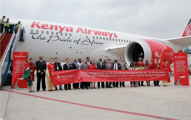 Kenya Airways opens 1st direct Vietnam - Africa route