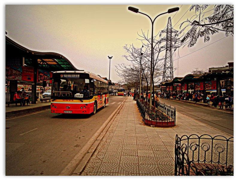 Long Bien Bus Station in Hanoi