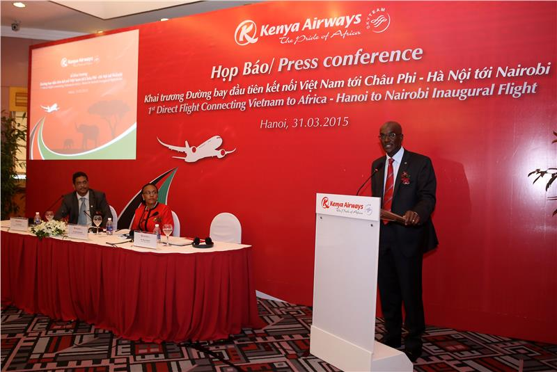 Press conference on 1st direct Vietnam - Africa route