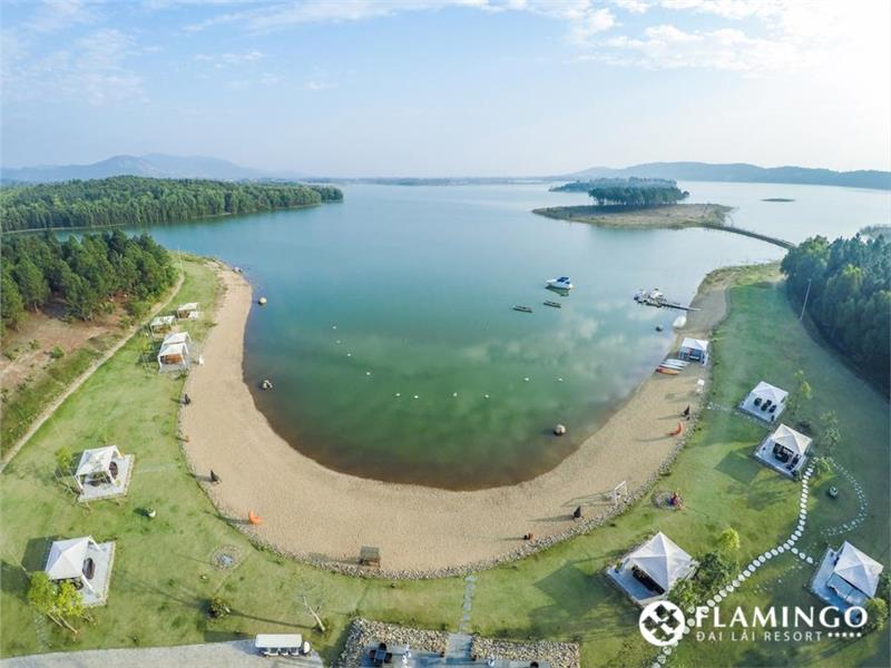 Aerial view of Flamingo Dai Lai Resort
