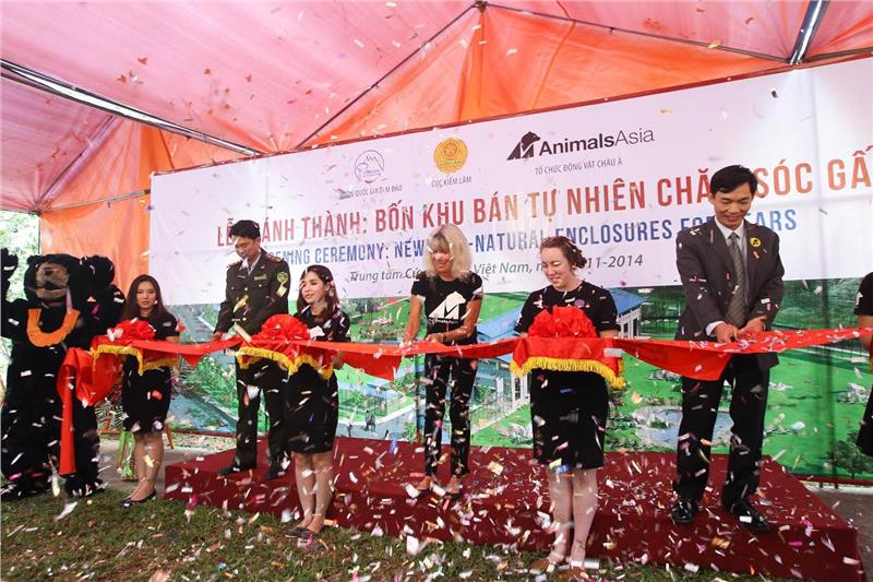 Opening ceremony of Semi-natural Enclosures for Bears