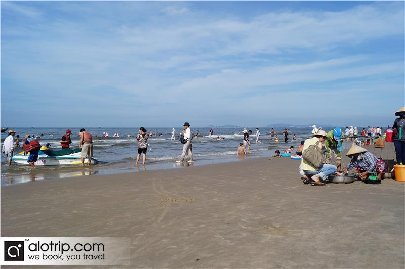 visitors in Long Hai Beach